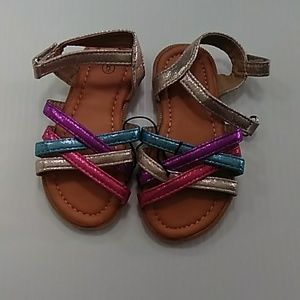 Toddler's multi colored sandals